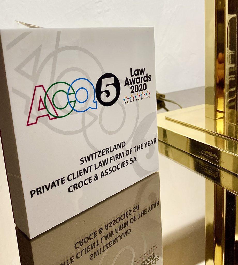 ACQ5 legal awards for CROCE & Associés SA